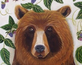Art Print of Animal Art- Portrait of a Brown Bear-by Catherine Nolin
