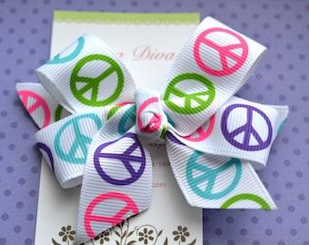 Peace Girl Classic Diva Bow