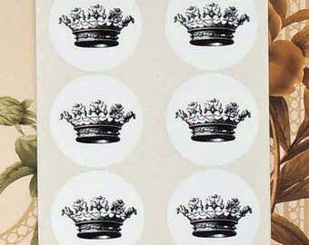 Crown Stickers Envelope Seals Royalty Prince Princess Party Favor Treat Bag Sticker SP052