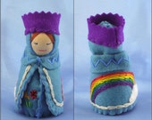 Rainbow Queen doll- Waldorf inspired
