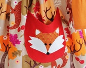 Girls Fall Dress, Back to School, Fox Applique, Thanksgiving Dress,sz 3mo-7yrs,Handmade by Outtahand Creations Boutique