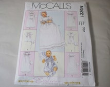 New McCall's Christening Gown  Pattern, M6221 (Free US Shipping)