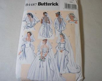 New Butterick Bridal Veil Pattern, B4487 (Free US Shipping)