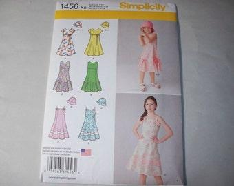 New Simplicity Girl's Dress  Pattern, 1456, K5 (7, 8, 10, 12, 14) (Free US Shipping)