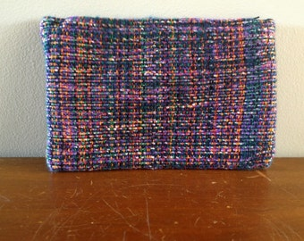 Small Woven Pencil Case - Makeup Bag - Clutch