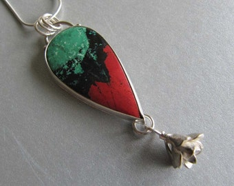 Necklace of Sonora Sunrise and Cast Sedum in Sterling Silver