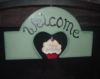 Seasonal Welcome Sign (Interchangeable)