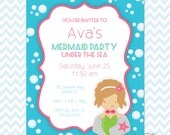 Mermaid Party Printables Instant Download - The Ava Collection