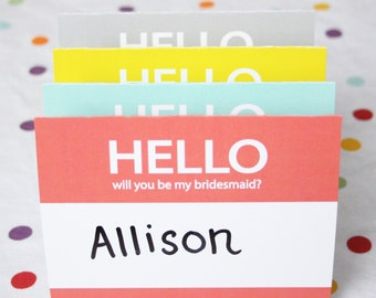 Will you be my bridesmaid Cards (printable)