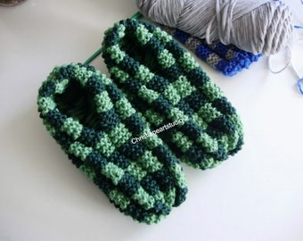PPhentex slippers READY TO SHIP  hand knitted slippers for men