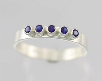 5 Stone Ring (Sapphire) made to order