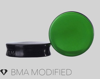 "11/16"" Forest Green Glass Plugs (18mm)"