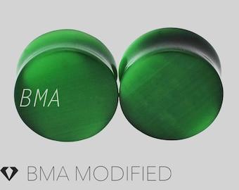 8g Cat Eye Green Glass Plugs (3mm)