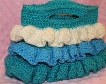 Ruffled Crochet Purse