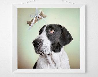 FEED ME Dog Art Print. Art for a child's room or nursery, kids room, playroom art.