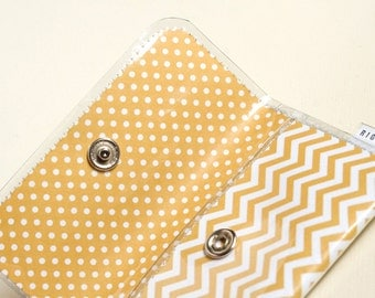 Yellow Chevron - Card Wallet