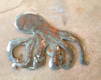Octopus Metal Art  Wall  Sculpture Tropical Beach Coastal