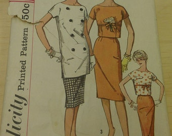 Junior misses and misses overblouse in two lengths and skirt - Simplicity 2812 size 13