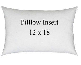 12 x 18 Accent Pillow Form, Pillow Insert, Hypoallergenic Pillow Sham Insert - Ships Same Day - Free Shipping