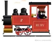 Ruby locomotive print