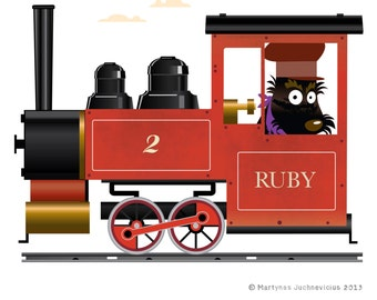 Ruby locomotive print
