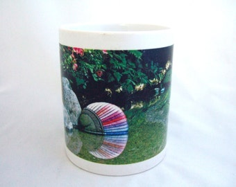 Ceramic Coffee Mug Colorful Floral Zen Garden Pond Rainbow Colors Great Gift Idea for Her Office Accessory Gift for Him Graduation Gift