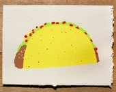 Taco Blank Greeting Card