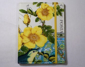Kindle cover Hardcover, Kindle Paperwhite Cover, iPad Mini, Nook Tablet Cover,  Book Style, French Journal Yellow Roses