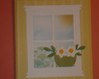 Stampin up Sympathy card window with flowers