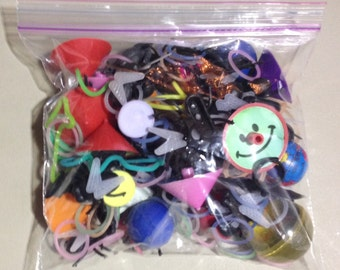 Random Bag of 100 plus Party Favors and Prizes from the 1970s, 80s and 90s