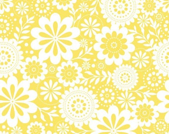 Evening Blooms Floral in Yellow by Carina Gardner for Riley Blake Designs - 1 Yard