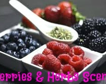 BERRIES & HERBS Scented Soy Melts - Soy Wax Tarts - Soy Wax Melts - Wickless Hand Made Candle Melts - Hand Poured In USA - Highly Scented