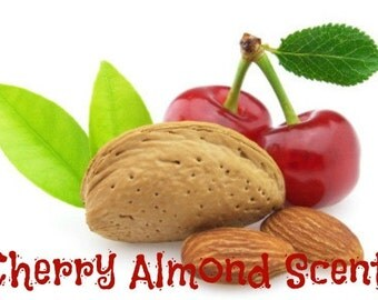 CHERRY ALMOND Scented Soy Wax Melts - Highly Scented Fruit Nuts - Flameless Wickless Soy Candle Tarts - Handmade In USA