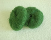 Mohair Silk Yarn in Green 2 Skeins Kidsilk Haze