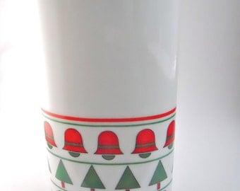 Christmas Moderne, 1980s Vase- tabletop