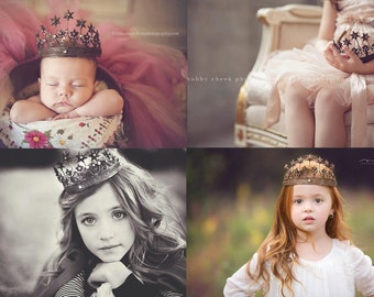 Star Crown - Vintage Style - Babies to Adult - Photography Prop