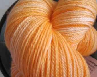25% off Sock Yarn Cashmere blend - Decadence  - Orange Sherbet
