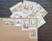 Rural America ..  UNused Vintage Postage Stamps  .. post 5 letters
