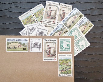 Rural America ..  UNused Vintage Postage Stamps  .. post 5 letters