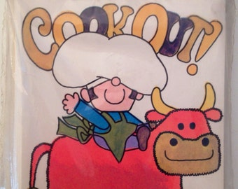 Vintage 1970s Cookout deadstock MIP party invitations from The Drawing Board Inc.