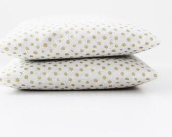 2nd Anniversary Gift, Gold Dot Lavender Sachets, Cotton Anniversary Gift for Wife