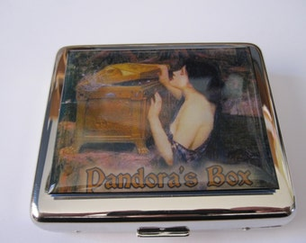Pandoras Box 8 Day Pill Box with Mirror