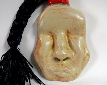 China man Ceramic Wall Mask