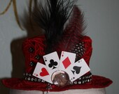 Harley Quinn Red Lace Womens  Mini Hat