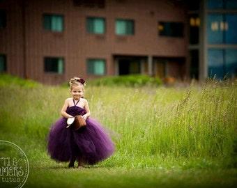 Perfectly Plum Flower Girl Tutu Dress
