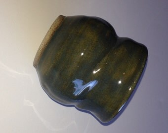 Item 201 Potter's Choice Textured Turquoise Small Vase