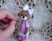 Artist Thread Crochet Teddy Bear miniature Reserved for Pat