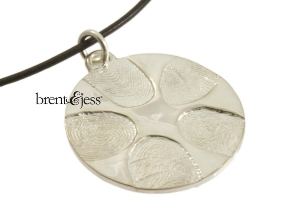Custom Family Handcrafted Fingerprint Necklace in Sterling Silver