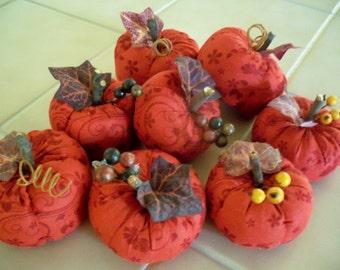 Burgandy Stuffed Pumpkin  For Fall Decoration