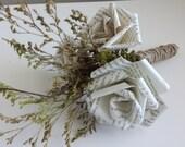Mini Book Page Rose Bouquet